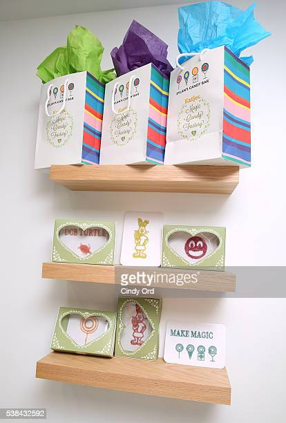 General view as Dylan's Candy BarNew York City Flagship 3rd Avenue launches 3D printed candy with Katjes Magic Candy Factory on June 6 2016 in New...
