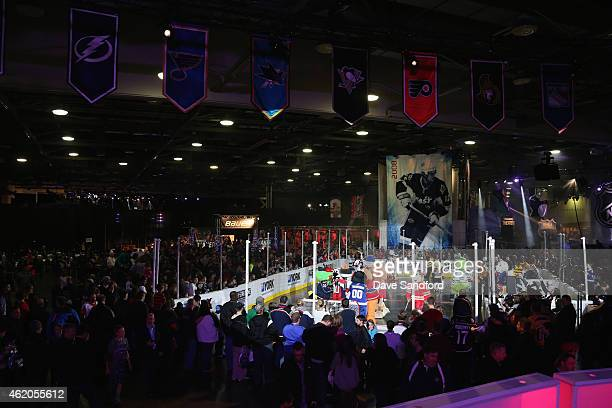 A general view as fans attend the NHL Fan Fair as part of the 2015 NHL AllStar Game weekend at Columbus Convention Center on January 23 2015 in...