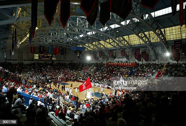 General view as fans file into their seats prior to the Saint Joseph's University Hawks 7653 defeat of the Temple University Owls during Atlantic 10...