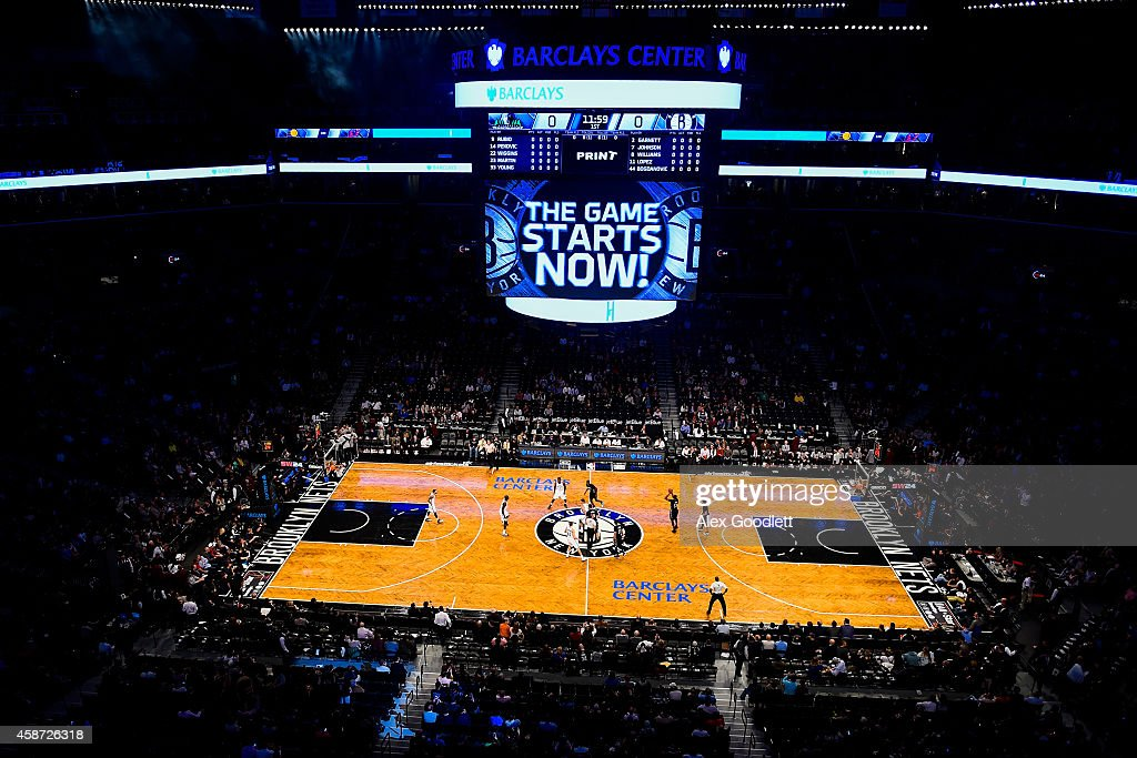 General view as fans look on during a game between the Brooklyn Nets and Minnesota Timberwolves at the Barclays Center on November 5, 2014 in the Brooklyn borough of New York City.