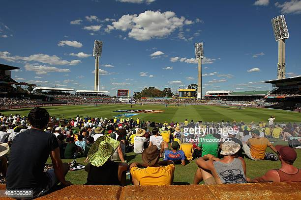 A general view as fans show their support during the 2015 ICC Cricket World match between Australia and Afghanistan at WACA on March 4 2015 in Perth...