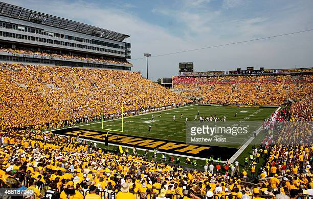 General view as fans watch the matchup between the Iowa Hawkeyes and the Illinois State Redbirds on September 5 2015 at Kinnick Stadium in Iowa City...