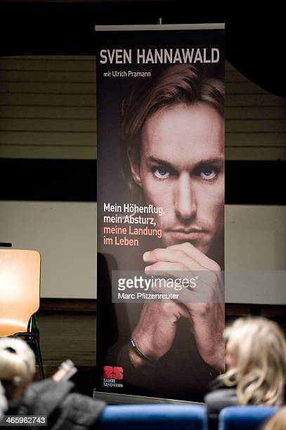 A general view as former ski jumper Sven Hannawald presents his book 'Mein Hoehenflug mein Absturz meine Landung im Leben' at the Thalia Bookstore on...