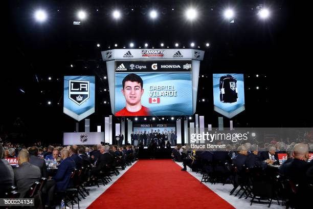 A general view as Gabriel Vilardi is selected 11th overall by the Los Angeles Kings during the 2017 NHL Draft at the United Center on June 23 2017 in...