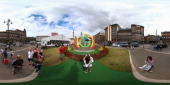 A general view as Glasgow prepares for the Commonwealth Games on July 20 2014 in Glasgow Scotland