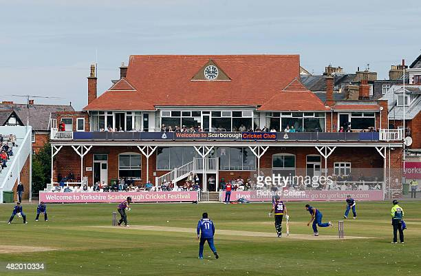 A general view as Glenn Maxwell bats during the Royal London OneDay Cup between Yorkshire Vikings and Gloucestershire at North Marine Road on July 26...