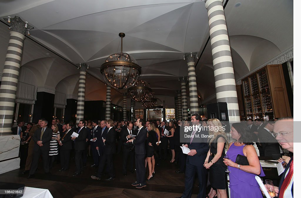 General view as guests show armed forces support at the 'Give Us Time' fundraiser held at Corinthia Hotel London on November 14, 2012 in London, England.