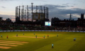 General view as James Tredwell of England takes the wicket of Thisara Perera of Sri Lanka during the 1st Royal London One Day International match...