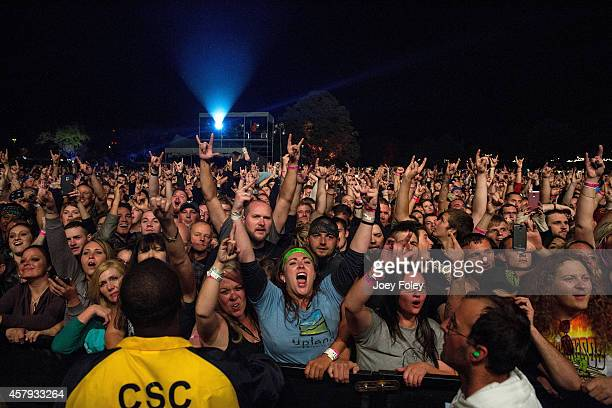 A general view as Kid Rock performs during the 2014 Louder Than Life Festival at Champions Park on October 5 2014 in Louisville Kentucky