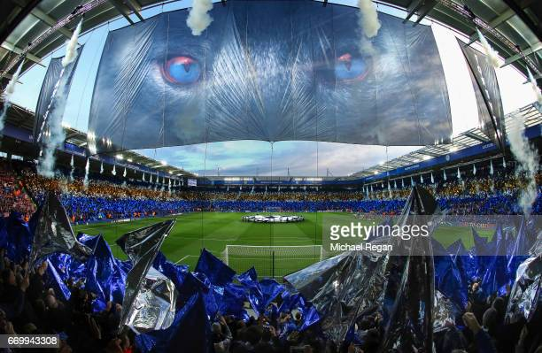 A general view as Leicester fans enjoy the atmosphere prior to the UEFA Champions League Quarter Final second leg match between Leicester City and...