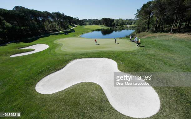 A general view as Maximilian Kieffer of Germany putts on the 4th green during Day 2 of the Open de Espana held at PGA Catalunya Resort on May 16 2014...