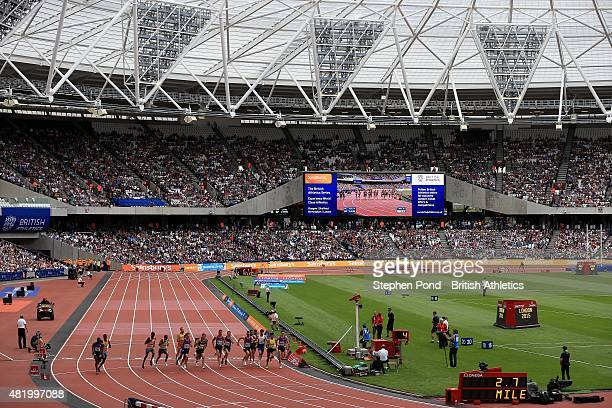 A general view as men start the Emsley Carr Mile during day two of the Sainsbury's Anniversary Games IAAF Diamond League event at The Stadium Queen...