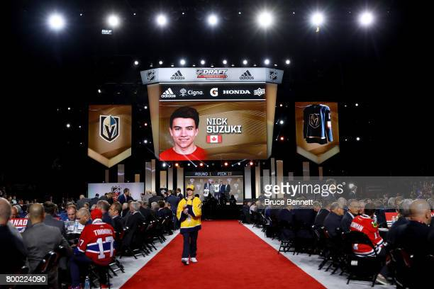 A general view as Nick Suzuki is selected 13th overall by the Vegas Golden Knights during the 2017 NHL Draft at the United Center on June 23 2017 in...