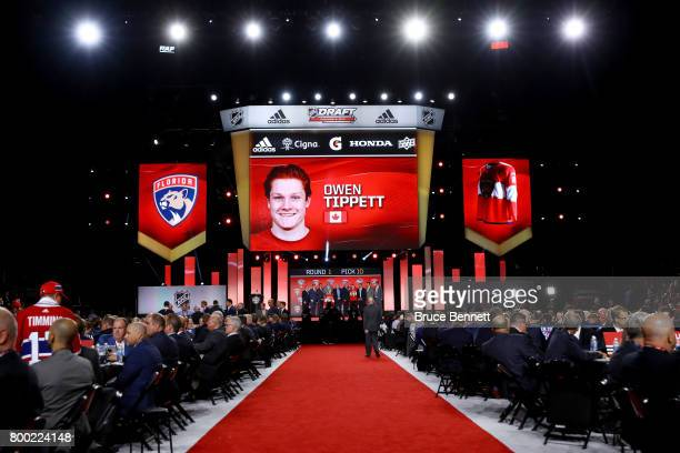 A general view as Owen Tippett is selected tenth overall by the Florida Panthers during the 2017 NHL Draft at the United Center on June 23 2017 in...