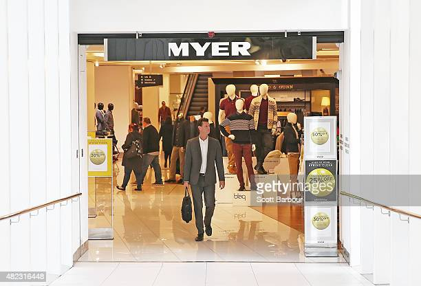 A general view as people shop in the Myer Melbourne department store on Bourke Street on July 30 2015 in Melbourne Australia Myer is dropping 100...