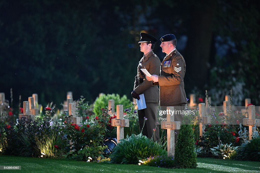 A general view as Prince Harry, Catherine, Duchess of Cambridge and Prince William, Duke of Cambridge attend the Somme Centenary commemorations at the Thiepval Memorial on June 30, 2016 in Albert, France.