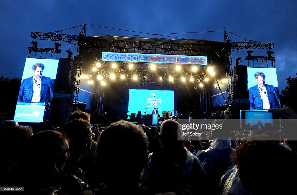 A general view as <a gi-track='captionPersonalityLinkClicked' href=/galleries/search?phrase=Prince+Harry&family=editorial&specificpeople=178173 ng-click='$event.stopPropagation()'>Prince Harry</a> speaks on stage at the Sentebale Concert at Kensington Palace on June 28, 2016 in London, England. Sentebale was founded by <a gi-track='captionPersonalityLinkClicked' href=/galleries/search?phrase=Prince+Harry&family=editorial&specificpeople=178173 ng-click='$event.stopPropagation()'>Prince Harry</a> and Prince Seeiso of Lesotho over ten years ago. It helps the vulnerable and HIV positive children of Lesotho and Botswana.