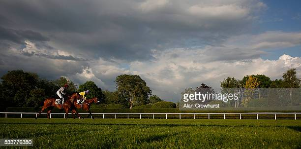 A general view as runners return after finishing at Windsor Racecourse on May 23 2016 in Windsor England