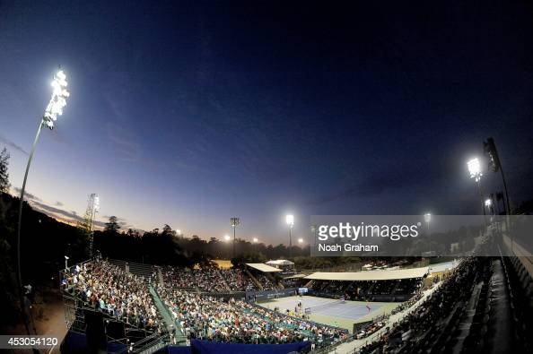A general View as Serena Williams of the United States of America plays against Ana Ivanovic of Serbia during Day 5 of the Bank of the West Classic...