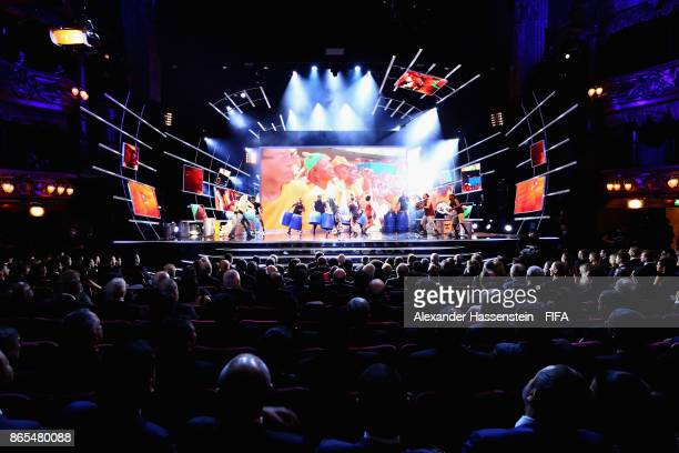 General view as Stomp perform during The Best FIFA Football Awards at The May Fair Hotel on October 23 2017 in London England