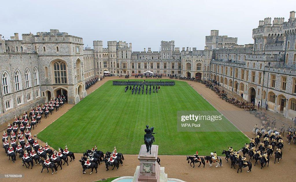 A general view as the Amir Sheikh Sabah AlAhmad AlJaber AlSabah of Kuwait arrives at Windsor Castle during a threeday state visit on November 27 2012...