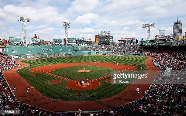 General view as the Boston Red Sox face the Tampa Bay Rays in the first inning at Fenway Park on April 13 2013 in Boston Massachusetts