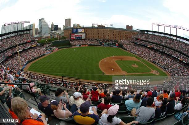 General view as the Boston Red Sox play the Baltimore Orioles on June 1 2008 at Camden Yards in Baltimore Maryland