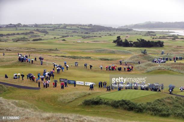General view as the crowd watch the action on the 11th hole during day four of the Dubai Duty Free Irish Open at Portstewart Golf Club