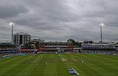 A general view as the lights come on to aid vision during day two of the 1st Investec Test match between England and Pakistan at Lords Cricket Ground...
