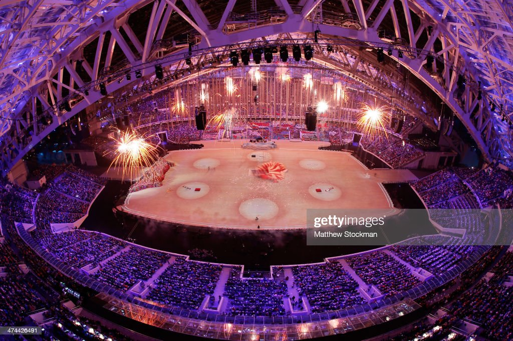 A general view as 'The Magic of Circus' is performed during the 2014 Sochi Winter Olympics Closing Ceremony at Fisht Olympic Stadium on February 23, 2014 in Sochi, Russia.
