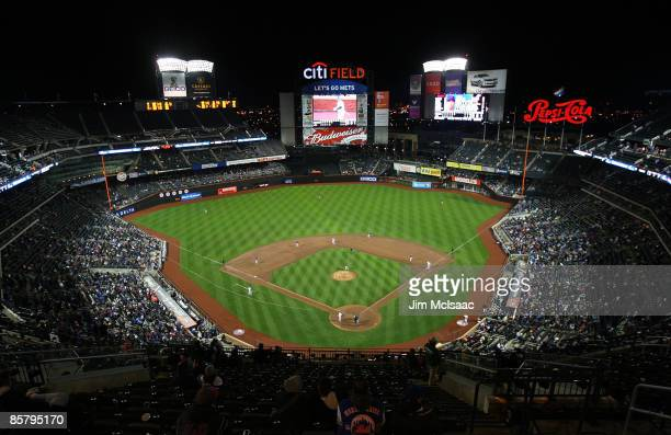 A general view as the New York Mets play the Boston Red Sox on April 3 2009 at Citi Field in the Flushing neighborhood of the Queens borough of New...