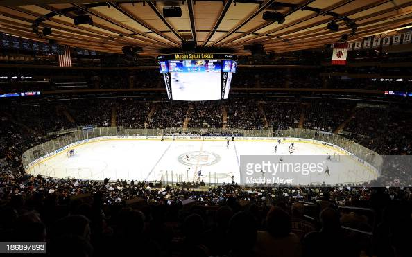 General view as the New York Rangers play the Anaheim Ducks at Madison Square Garden on November 4 2013 in New York City