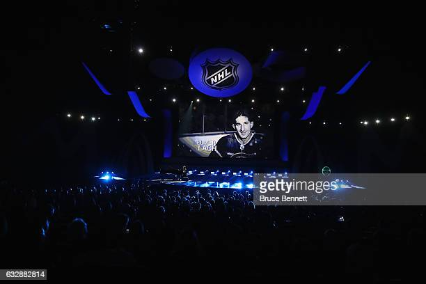 A general view as the NHL honors deceased Top 100 players during the NHL 100 presented by GEICO Show as part of the 2017 NHL AllStar Weekend at the...