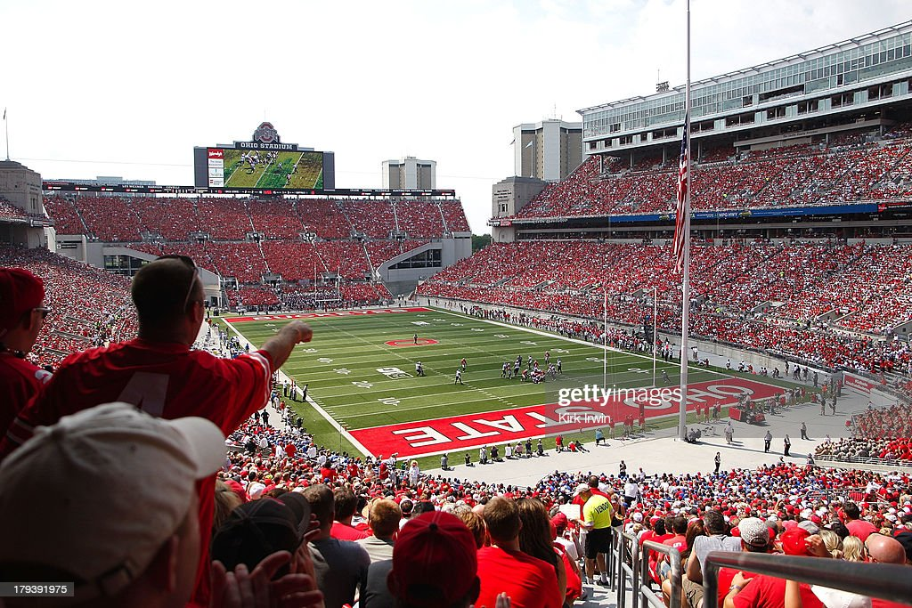 General view as the Ohio State Buckeyes take on the Buffalo Bulls on August 31, 2013 at Ohio Stadium in Columbus, Ohio. Ohio State defeated Buffalo 40-20.