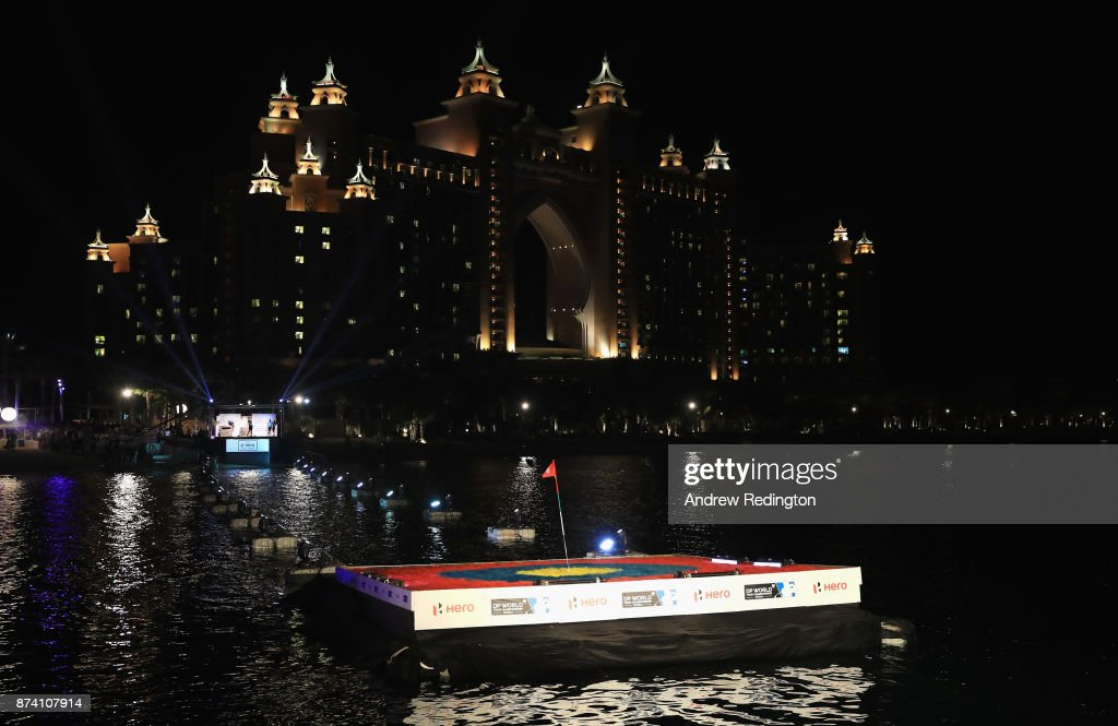 A general view as Thomas Pieters of Belgium takes part in the Hero Challenge prior to the DP World Tour Championship at Atlantis, The Palm on November 14, 2017 in Dubai, United Arab Emirates.