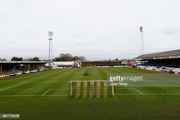 A general view at Abbey Stadium on January 19 2015 in Cambridge Cambridgeshire