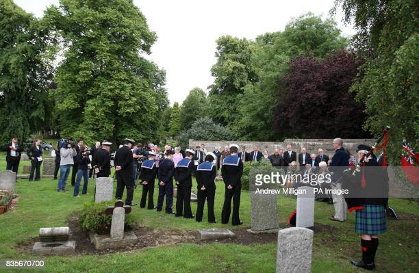 A general view at Comely Bank Cemetery in Edinburgh where former machine gunner Alf Tubb will unveil a headstone in memory of Reginald Earnshaw his...