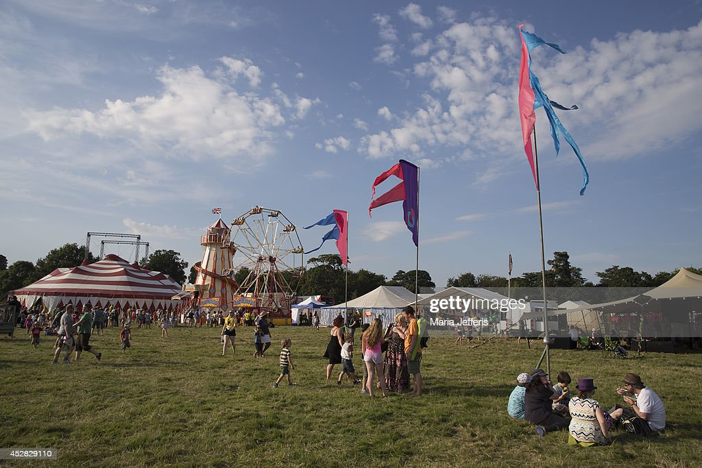 General view at Deer Shed Festival at Baldersbey Park, Topcliffe on July 25, 2014 in Thirsk, United Kingdom.