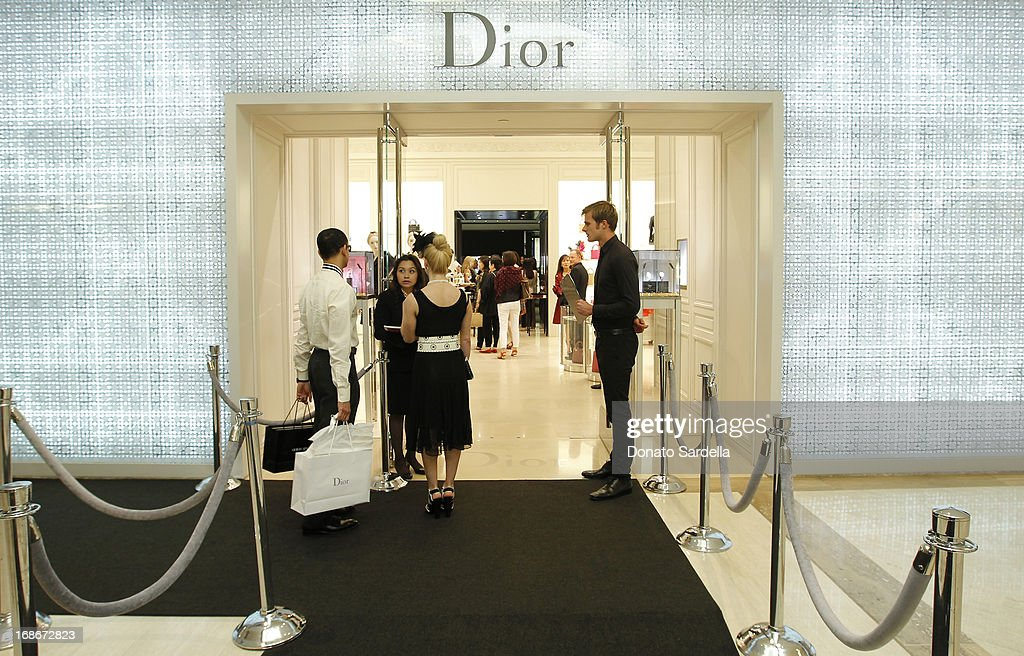 A general view at Dior celebrates the opening of Dior Couture Patrick Demarchelier Exhibition at the Dior store at South Coast Plaza May 10, 2013 in Costa Mesa, California.