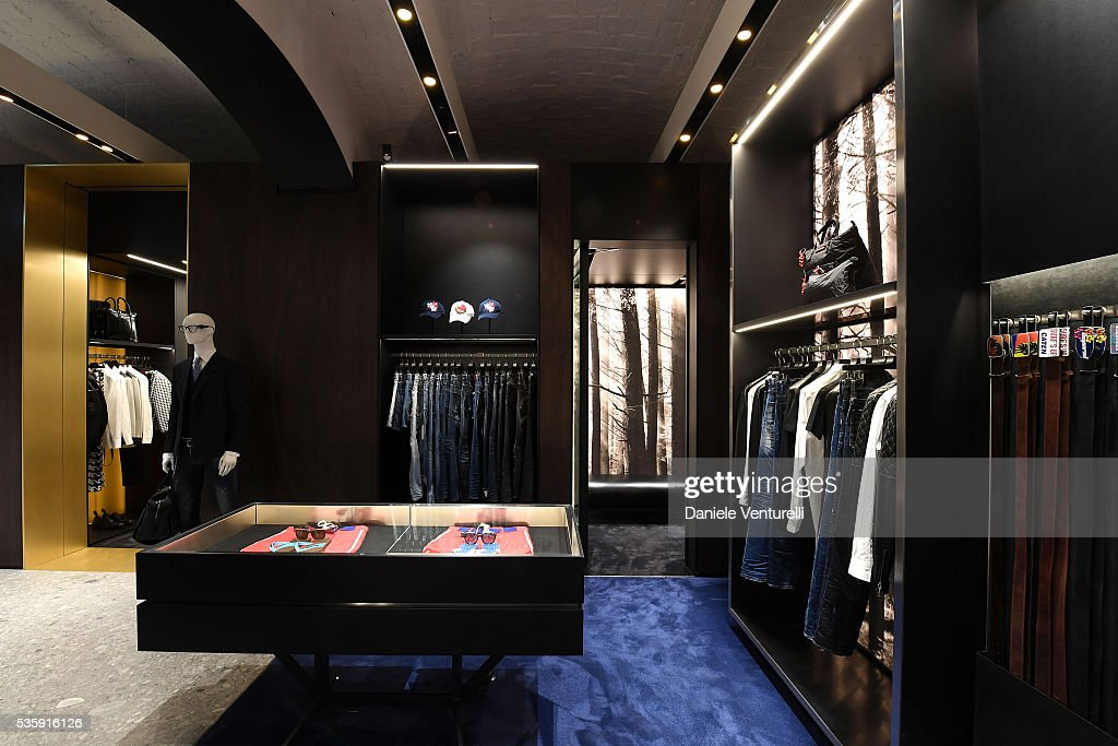 A general view at Dsquared2 in-store cocktail on May 30, 2016 in Rome, Italy.
