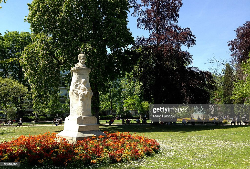 A general view at 'Jardins du Luxembourg' on May 6, 2016 in Paris, France.