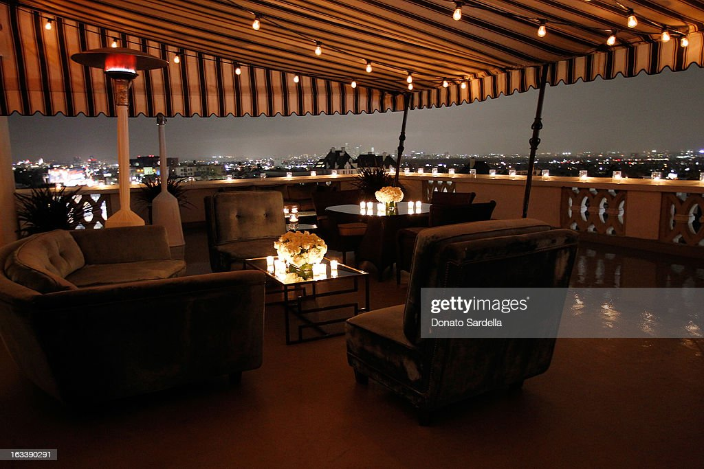 A general view at Joe Fresh private dinner hosted by Joe Mimran and Kate Mara at The Chateau Marmont on March 8, 2013 in Los Angeles, California.