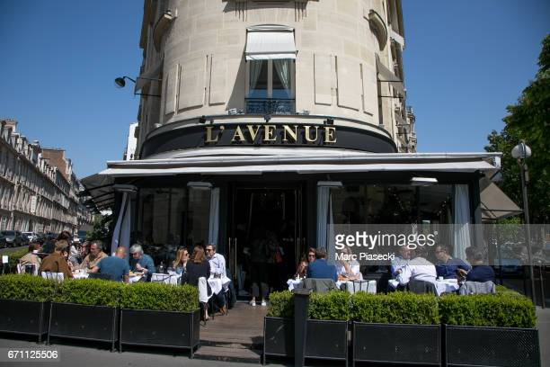 A general view at 'l'Avenue' restaurant on April 21 2017 in Paris France