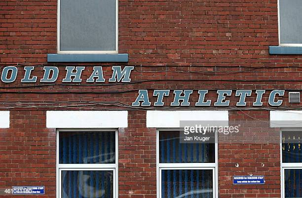 General view at Oldham Athletic's Boundary Park ground on January 5 2015 in Oldham England