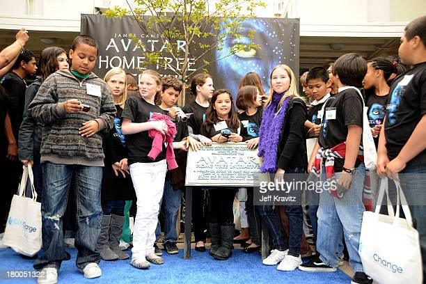 General view at planting of first tree in North America symbolizing the one million tree initiative on behalf of the Avatar Bluray disc and DVD...
