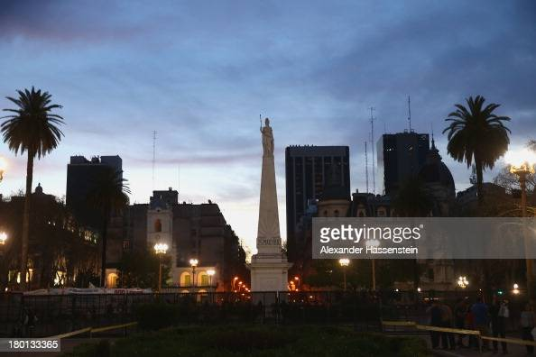 General view at Plaza de Mayo on September 8 2013 in Buenos Aires Argentina