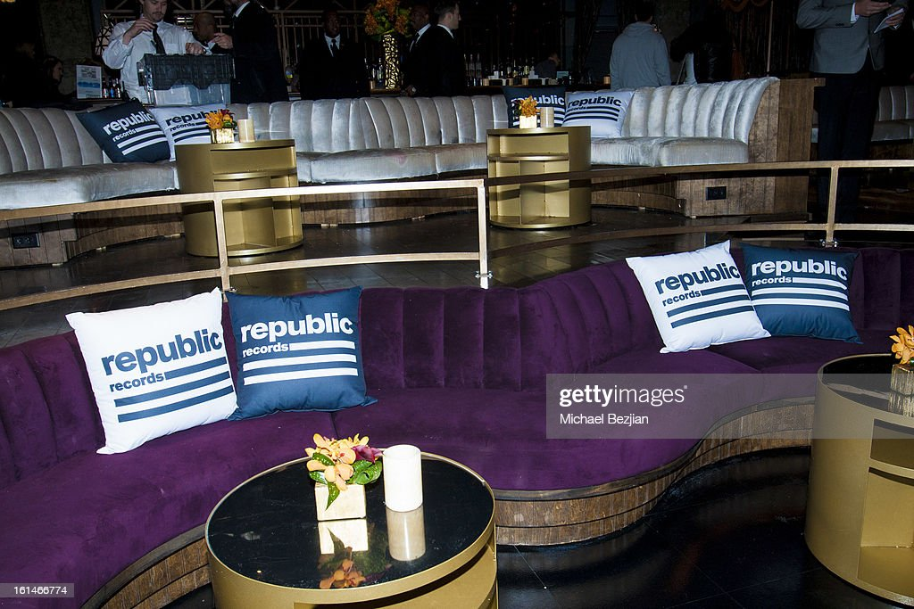A general view at Republic Records Post Grammy Party at The Emerson Theatre on February 10, 2013 in Hollywood, California.