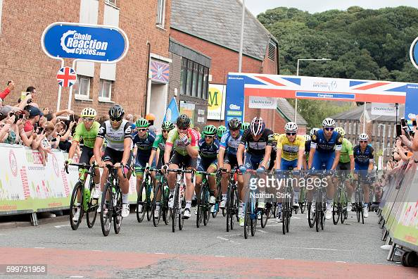 General view at start of the stage three of the 2016 Tour of Britain from Congleton to Tatton Park Knutsford on September 6 2016 in Knutsford England