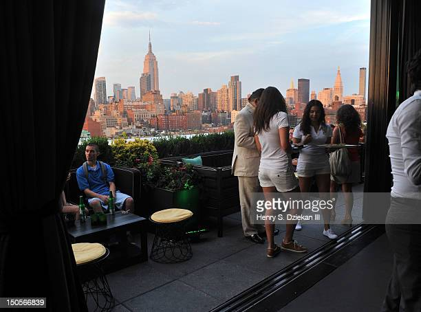 A general view at the 2012 US Open kick off party at PHD Rooftop Lounge at Dream Downtown on August 21 2012 in New York City