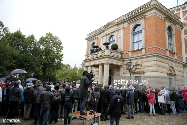 General view at the Bayreuth Festival 2017 Opening on July 25 2017 in Bayreuth Germany